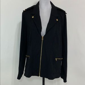 Marc New York Andrew Marc black moto blazer